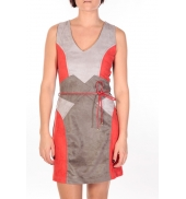 Dress Code Robe Fraise rouge/gris/anthracite