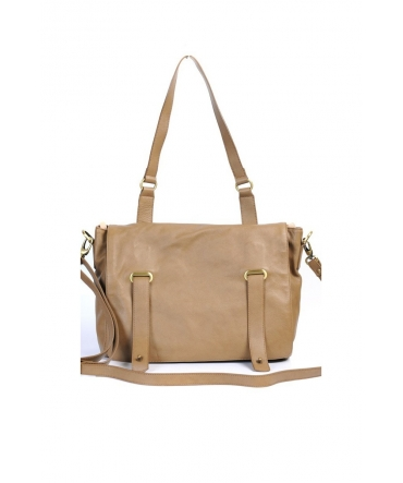 SAC CARTABLE CUIR  TAUPE