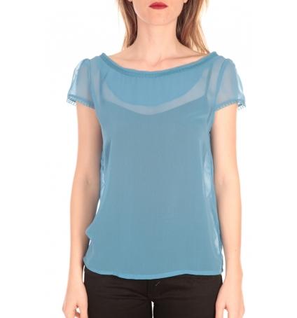 Aggabarti t-shirt voile121072 bleu