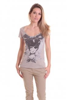 Rich & Royal T-shirt 11q442 Beige/Taupe