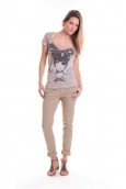 Rich & Royal T-shirt 11q442 Beige/Taupe