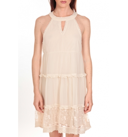 Vero Moda Robe New Dina Ecrue LOVELY SS TOP PP