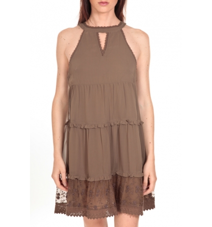 Vero Moda Robe New Dina Taupe LOVELY SS TOP PP