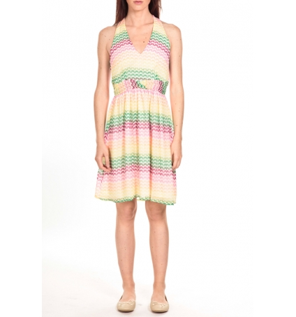 Vero Moda robe MIAMI  Barriolée Multicolore