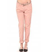 Tom Tailor Pantalon Ceinture saumon