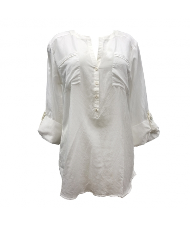 Tom Tailor Top Silk Blanc