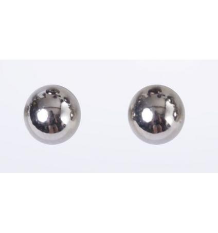 LVDLM Boucles d'oreilles Boules gris clair