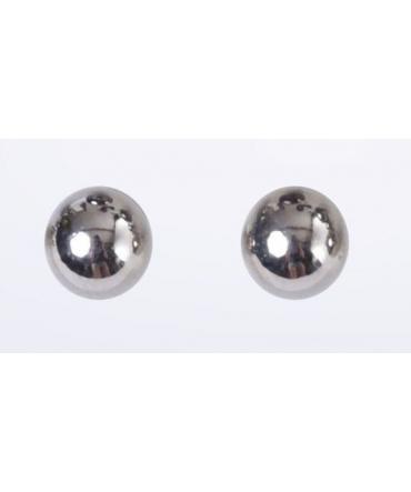 Boucles d'oreilles Boules gris clair