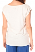 TOM TAILOR TEE-SHIRT PRINSHIRT BLANC