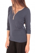 Tom Tailor Top Trendy Color Block Tee Bleu marine