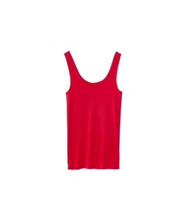 Petit Bateau Marcel femme en coton léger Rouge Cardea