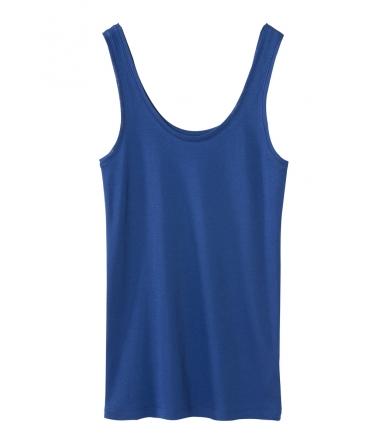 Petit Bateau Marcel femme en coton léger Bleu Shore
