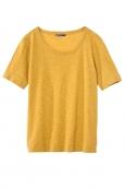 Petit Bateau T-shirt femme col rond en jersey flammé Jaune Inca