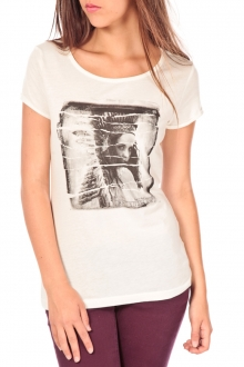 TOM TAILOR T-shirt with print blanc