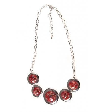 LVDLM Collier pierres pailletées rouge