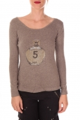 Vision de Rêve Pull Five Col Rond 1036 Taupe