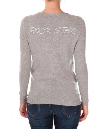 vision de rêve pull rock star 1027 gris