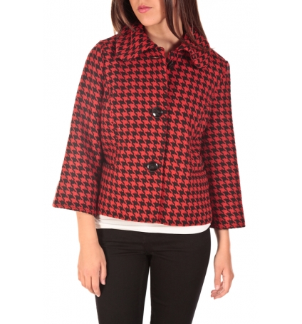 VERO MODA ODA Short Jacket Noir/Rouge