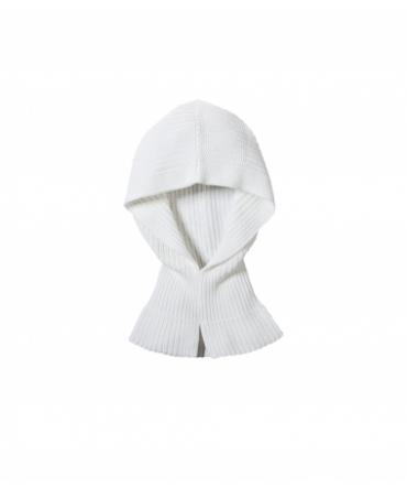 Petit Bateau Col Capuche Femme en côte perlée Blanc Lait