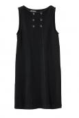 Petit Bateau Robe Femme Trois Trous en Molleton Fleece Noir