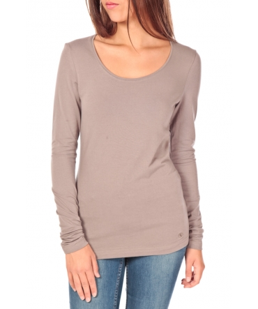 Tom Tailor Lara Stretch Longsleeve Taupe