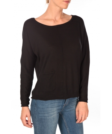Tom Tailor Basic Structure Pullover Noir