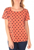 Vero Moda Racoon South Hamptons SS Top EA Rouille