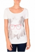 VERO MODA AMANDA GLASSES SS TOP blanc/rose