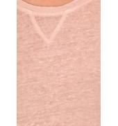 PETIT BATEAU T-shirt femme manches longues esprit sweat en lin rose Pastela Rose poudre