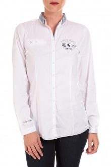 TOM TAILOR NICE SOLID POLO BLOUSE Blanc