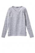 PETIT BATEAU Sweat Shirt en coton Gris Vicky