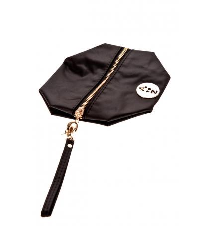 Pochette besace bouton doré Noire