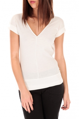 by la vitrine T-shirt dos cache coeur 017 Blanc - 1 acheté = 1 offert