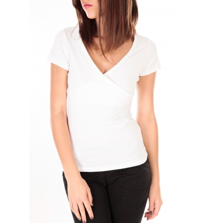 by la vitrine T-shirt basic cache cœur 23E-14 Blanc