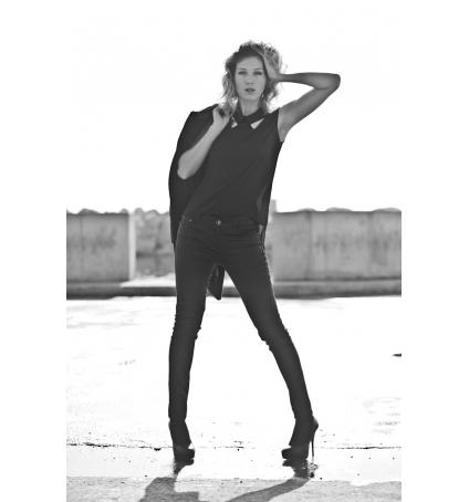 Vero Moda Tosh SL Top AC Wall Noir