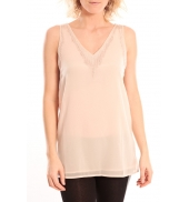 Vero Moda Pearl SL Long Top Rose