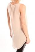 Vero Moda Pearl SL Long Top Rose
