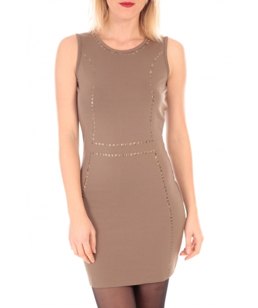 VERO MODA YDA SL MINI DRESS  Marron