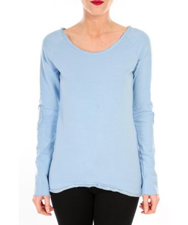 BY LA VITRINE T-shirt Empiècement Pailleté 2119 Bleu