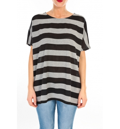 Vero Moda CHELLA 2/4 LONG TOP KM WALL Gris