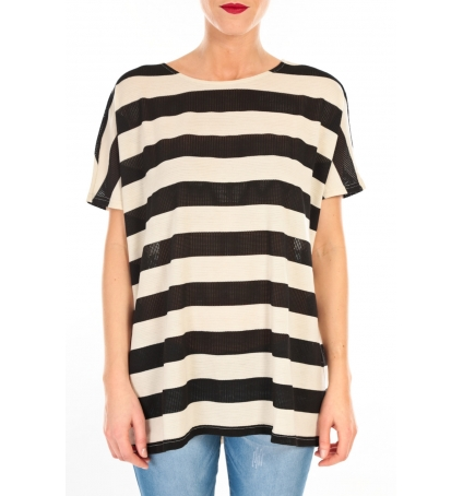 Vero Moda CHELLA 2/4 LONG TOP KM WALL Écru