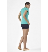 PETIT BATEAU T-shirt femme col V en coton léger 32804 69 Vert