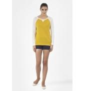PETIT BATEAU T-shirt femme manches longues en lin 32929 83 Jaune
