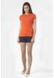PETIT BATEAU T-shirt femme en coton à badge vintage 33679 82  Orange
