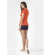 PETIT BATEAU T-shirt femme en coton à badge vintage 33679 82  Orange