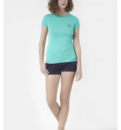 PETIT BATEAU T-shirt femme en coton à badge vintage 33679 69 Vert