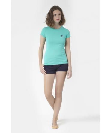 PETIT BATEAU T-shirt femme en coton à badge vintage 33679 69 Bleu