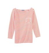 PETIT BATEAU T-shirt femme manches 3/4 rayé en jersey flammé 32329 87 Orange