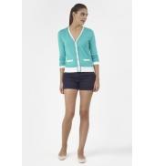 PETIT BATEAU Cardigan femme colorblock en tricot 32315 68 Bleu