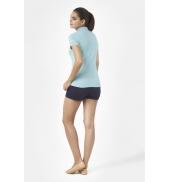 PETIT BATEAU Polo femme en piqué de coton stretch 33608 02 Bleu